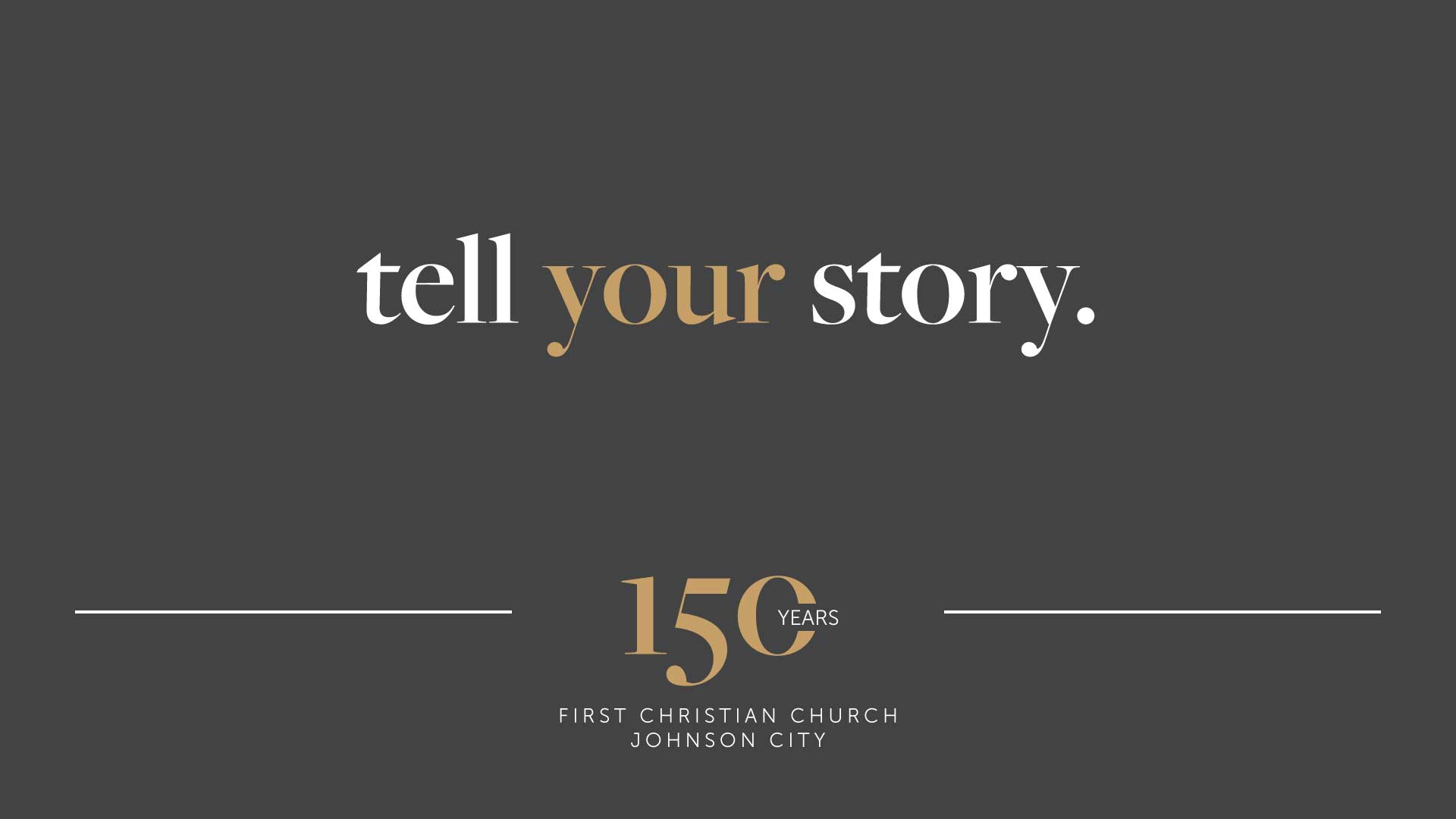 150th Anniversary Story Sharing